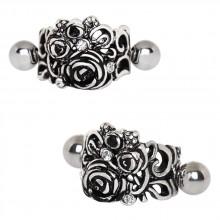 Piercing helix à lit de roses style vintage