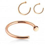 Piercing nez anneau en acier cuivré par ionisation