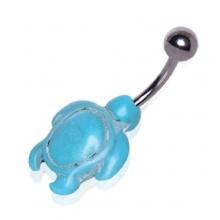 Piercing nombril à tortue de turquoise