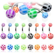Piercing nombril ballon flashy UV