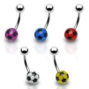 Piercing nombril ballon football