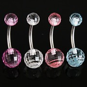 Piercing nombril boules Disco