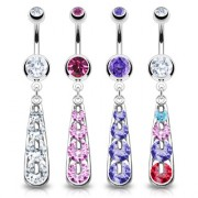 Piercing nombril cascade zircon