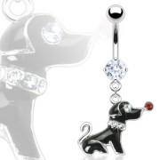 Piercing nombril chien coquet