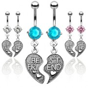 Piercing nombril coeur best friend (paire)