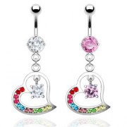 Piercing nombril coeur design