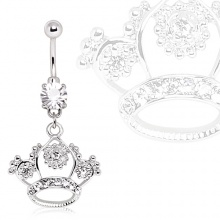 Piercing nombril couronne de princesse