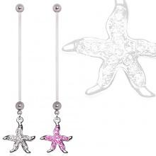 Piercing nombril de grossesse à étoile de mer