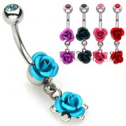 Piercing nombril double-rose