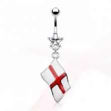 Piercing nombril drapeau Angleterre