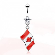 Piercing nombril drapeau Canada
