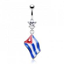 Piercing nombril drapeau Cuba