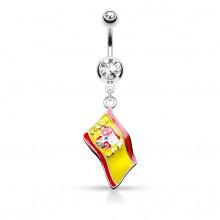Piercing nombril drapeau Espagne