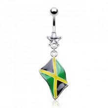 Piercing nombril drapeau Jamaïque
