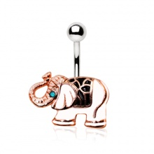 Piercing nombril elephant d'apparat cuivré