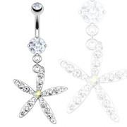 Piercing nombril étoile de mer pavée de pierres