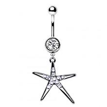 Piercing nombril étoile étincelante