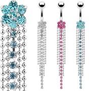 Piercing nombril fleur et chaines