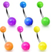Piercing nombril fluo coloris uni