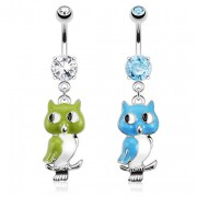 Piercing nombril hibou / chouette