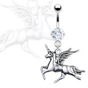 Piercing nombril licorne