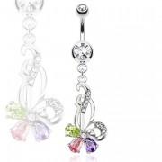 Piercing nombril mi-fleur mi-papillon