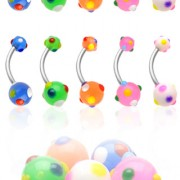 Piercing nombril Multi Colored Polka