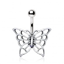 Piercing nombril papillon enchanté