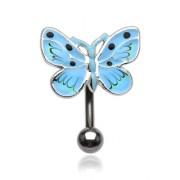 Piercing nombril papillon moucheté