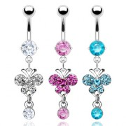 Piercing nombril papillon suspendu