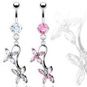 Piercing nombril parade de papillons