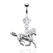 Piercing nombril pendentif cheval