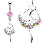 Piercing nombril pendentif danseuse ballerine