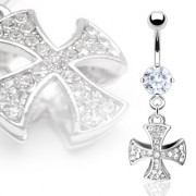 Piercing nombril pendentif Iron Cross