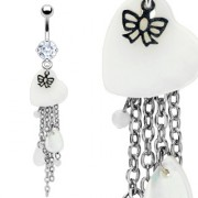 Piercing nombril perles cascade de chaînes