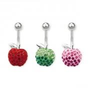 Piercing nombril pomme cristal