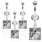 Piercing nombril QR Code Message vulgaire