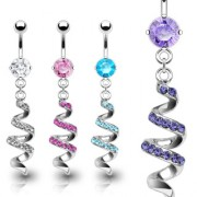 Piercing nombril spirale