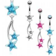 Piercing nombril style étoile filante