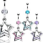 Piercing nombril trois étoiles