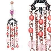Piercing nombril Vintage avec chaines perlées