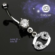 Piercing nombril Zodiac signe Cancer