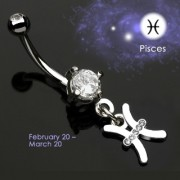 Piercing nombril Zodiac signe Poisson