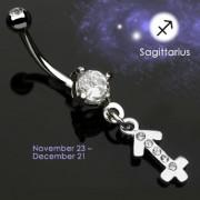 Piercing nombril Zodiac signe Sagittaire