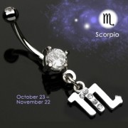 Piercing nombril Zodiac signe Scorpion