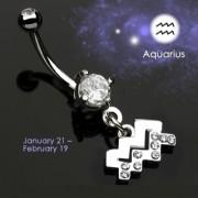 Piercing nombril Zodiac signe Verseau