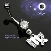 Piercing nombril Zodiac signe Vierge