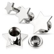 Piercing plug à grosse étoile en acier