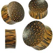 Piercing plug bois de palmier