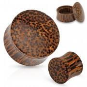Piercing plug boite en bois de cocotier
